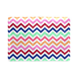 CHEVRONS Pattern Multicolor Pink Turquoise Coral Blue Red Custom NoteBook A5