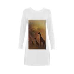 Lion and Giraffes CB Demeter Long Sleeve Nightdress (Model D03)