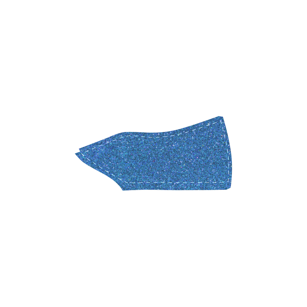 Sparkles Light Blue Glitter Women's Slip-on Canvas Shoes (Model 019)
