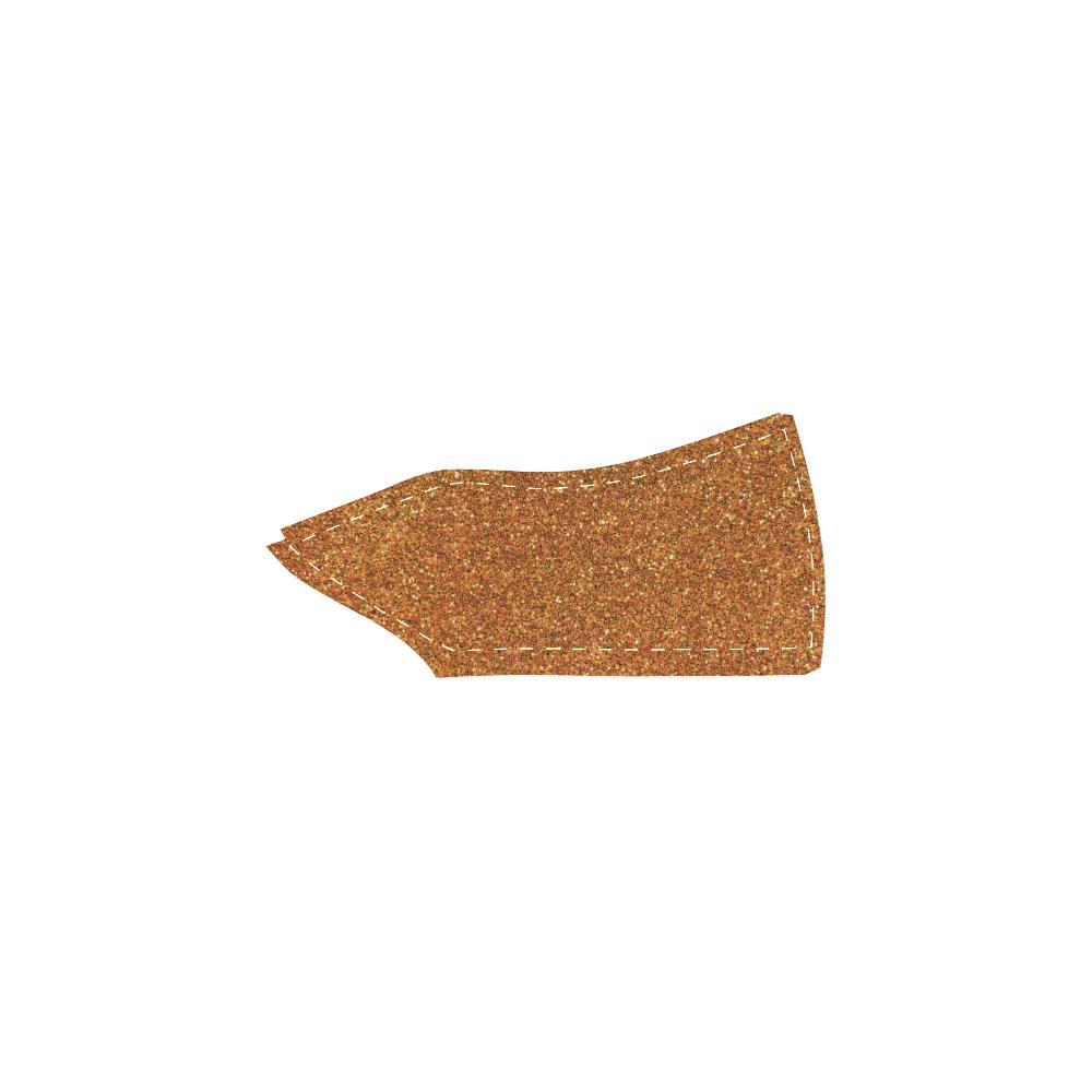 Sparkles Gold Glitter Women's Slip-on Canvas Shoes (Model 019)