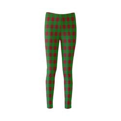 Red and Green Christmas Plaid Cassandra Women's Leggings (Model L01)