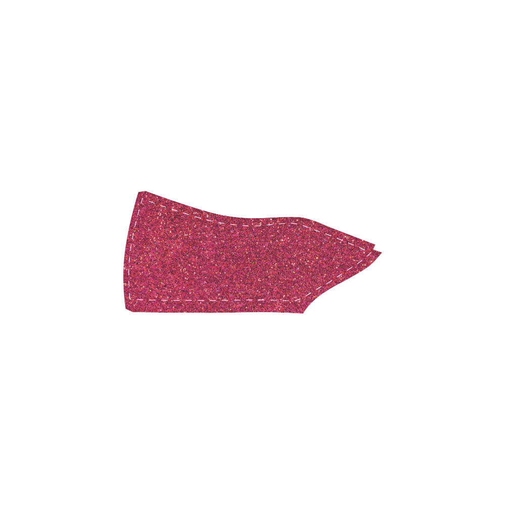 Sparkles Pink Glitter Women's Slip-on Canvas Shoes (Model 019)