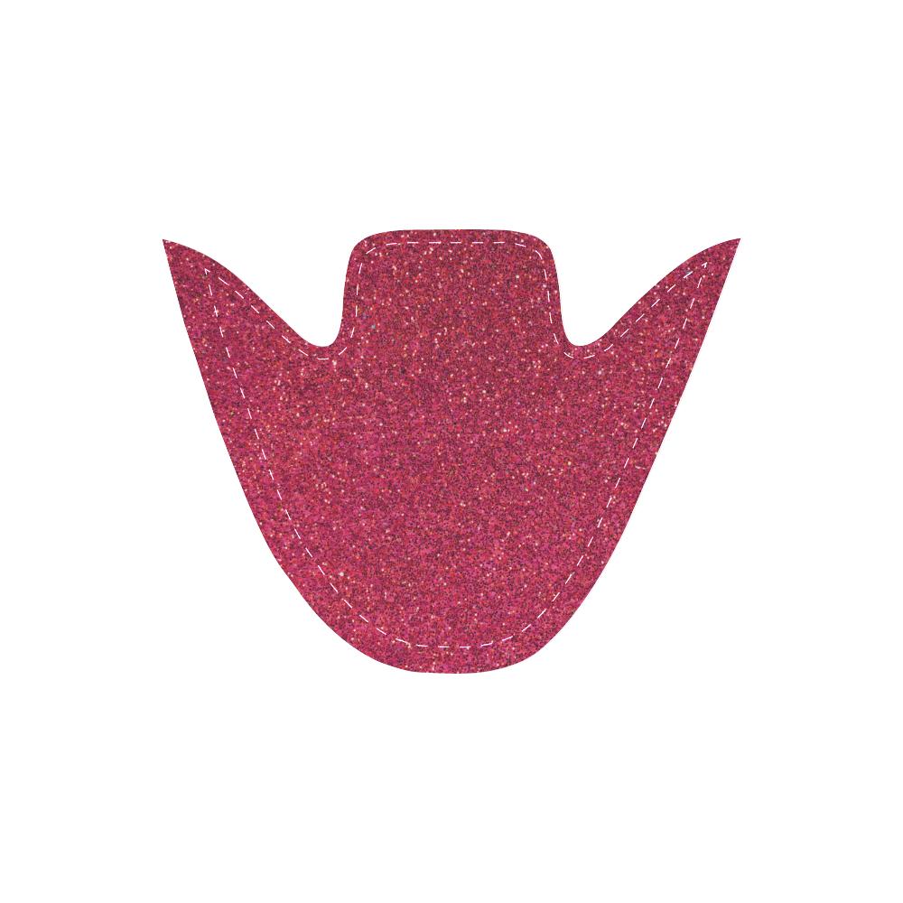 Sparkles Pink Glitter Women's Unusual Slip-on Canvas Shoes (Model 019)