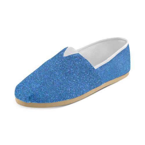 Sparkles Light Blue Glitter Unisex Casual Shoes (Model 004)