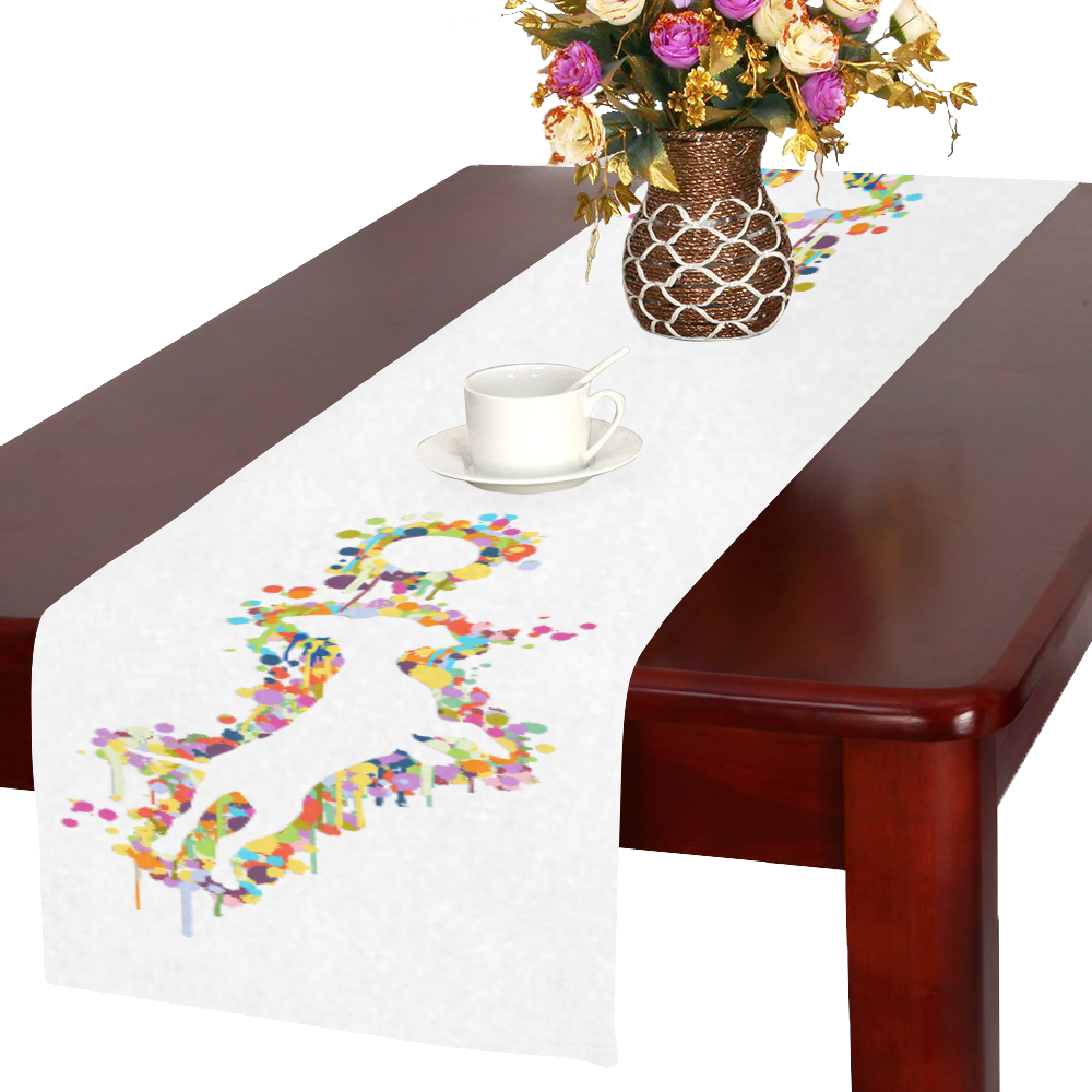 Playing Dog with Ball Table Runner 16x72 inch