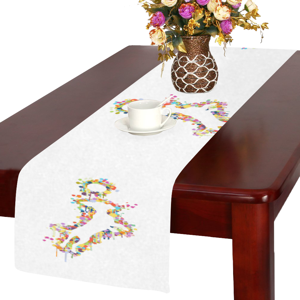 Playing Dog with Ball Table Runner 14x72 inch