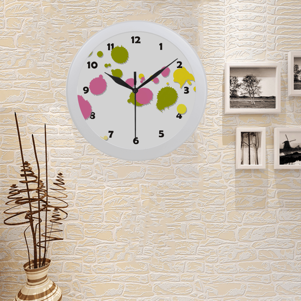 Colorful Splash Circular Plastic Wall clock