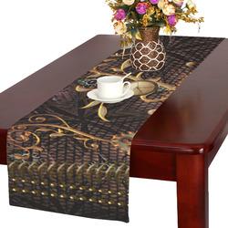 Steampunk, gallant design Table Runner 16x72 inch