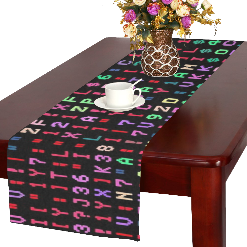 funny allover matrix 2 Table Runner 16x72 inch
