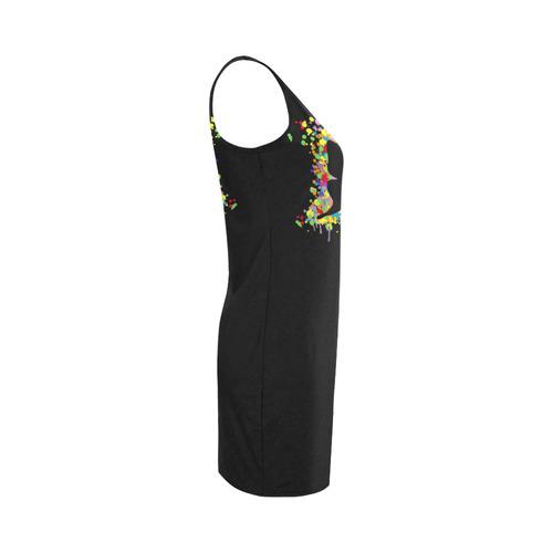 Dancing Butterfly Splash Medea Vest Dress (Model D06)