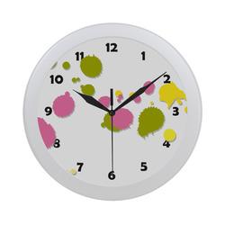 Colorful Splash Circular Plastic Wall clock