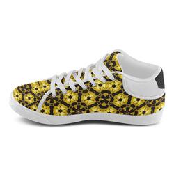 Golden Metallics Lights Kaleidoscope Mandala 5 Women's Chukka Canvas Shoes (Model 003)