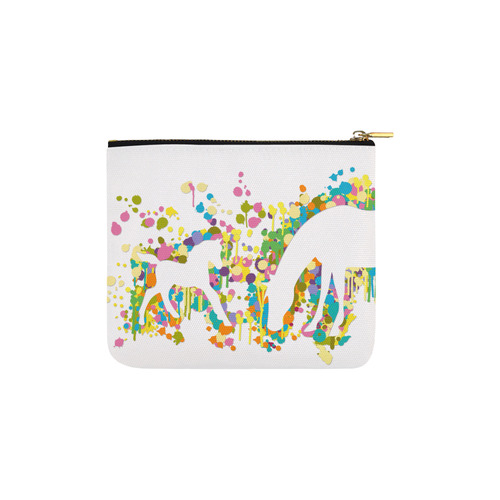 Lovely Foal with Mom Splash Carry-All Pouch 6''x5''