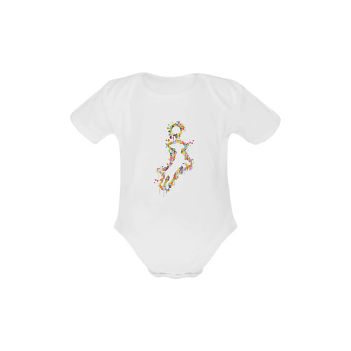 Playing Dog with Ball Baby Powder Organic Short Sleeve One Piece (Model T28)