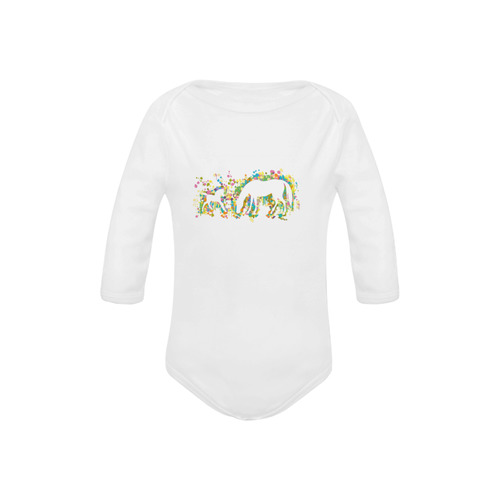 Lovely Foal with Mom Splash Baby Powder Organic Long Sleeve One Piece (Model T27)
