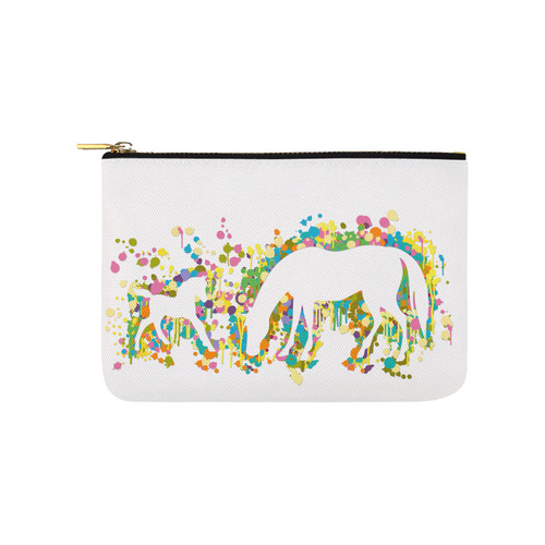 Lovely Foal with Mom Splash Carry-All Pouch 9.5''x6''