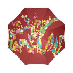 Lovely Foal with Mom Splash Foldable Umbrella (Model U01)