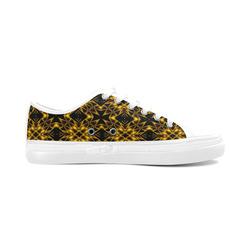 Golden Metallics Lights Kaleidoscope Mandala 2 Women's Canvas Zipper Shoes (Model 001)