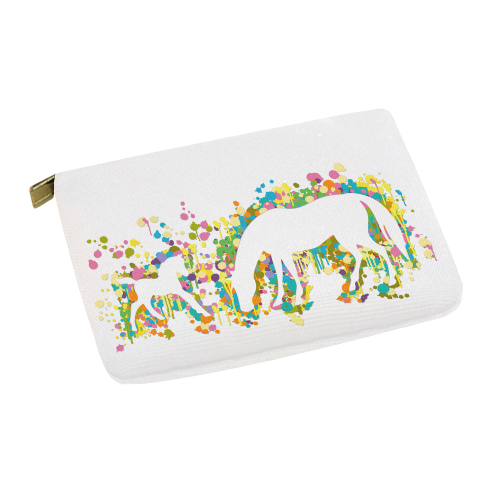 Lovely Foal with Mom Splash Carry-All Pouch 12.5''x8.5''