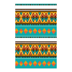 "Tribal design in retro colors Poster 23""x36"""
