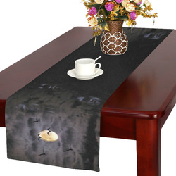 Halloween Moon and Ghosts Table Runner 16x72 inch