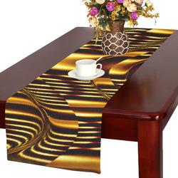 Golden Light Cup Table Runner 16x72 inch
