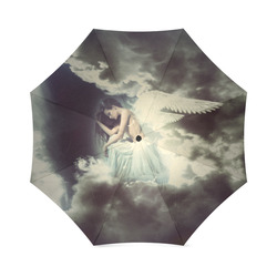 Sad Angel in Paradise Sky Foldable Umbrella (Model U01)