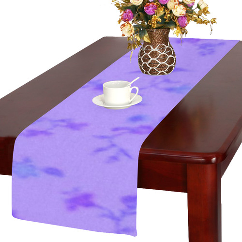 Blurred floral C  by JamColors Table Runner 14x72 inch