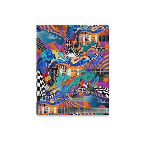 "Rock Band Colorful Electric Guitar Musician Pop Art Print Canvas Print 20""x16"""