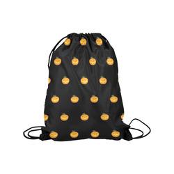 "Halloween pumpkin pattern Medium Drawstring Bag Model 1604 (Twin Sides) 13.8""(W) * 18.1""(H)"