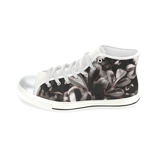 Foliage #1 Red Edge - Jera Nour High Top Canvas Women's Shoes/Large Size (Model 017)