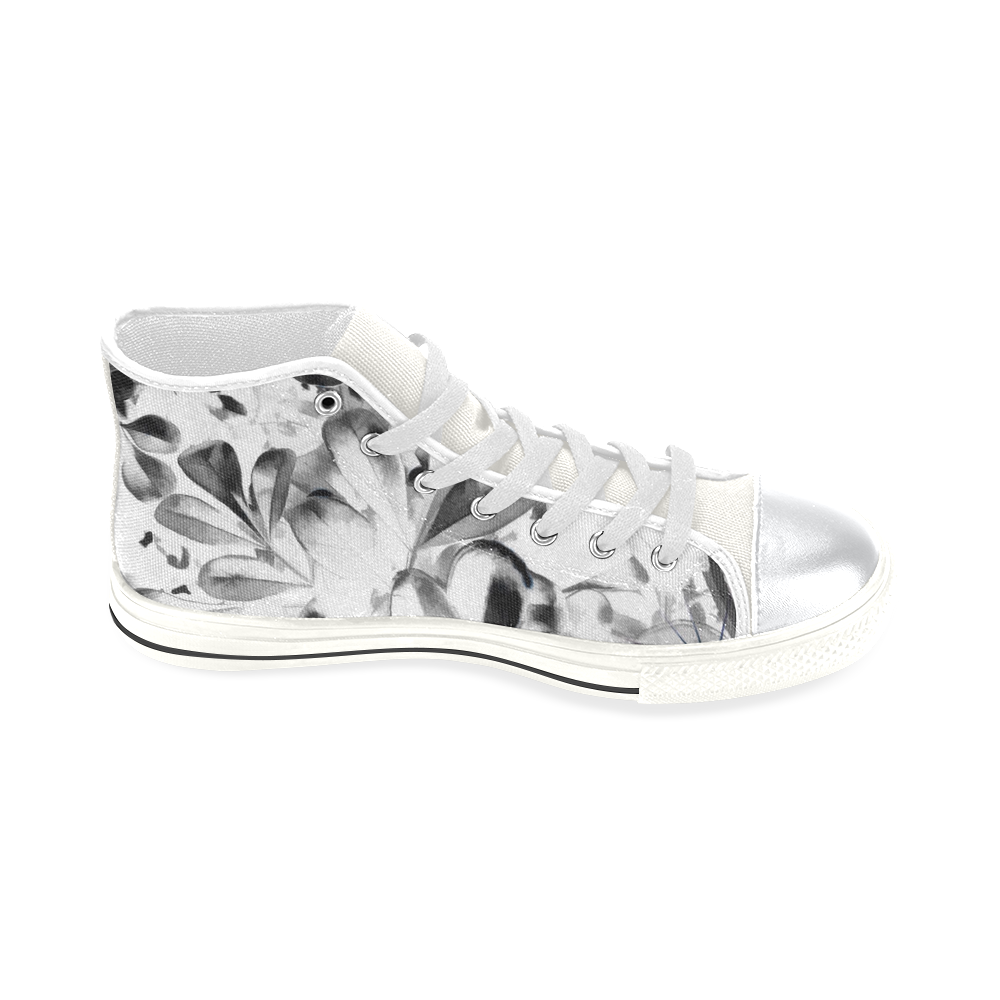 Foliage #1 - Jera Nour High Top Canvas Women's Shoes/Large Size (Model 017)