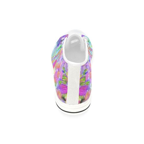 Foliage Patchwork #10 - Jera Nour High Top Canvas Women's Shoes/Large Size (Model 017)