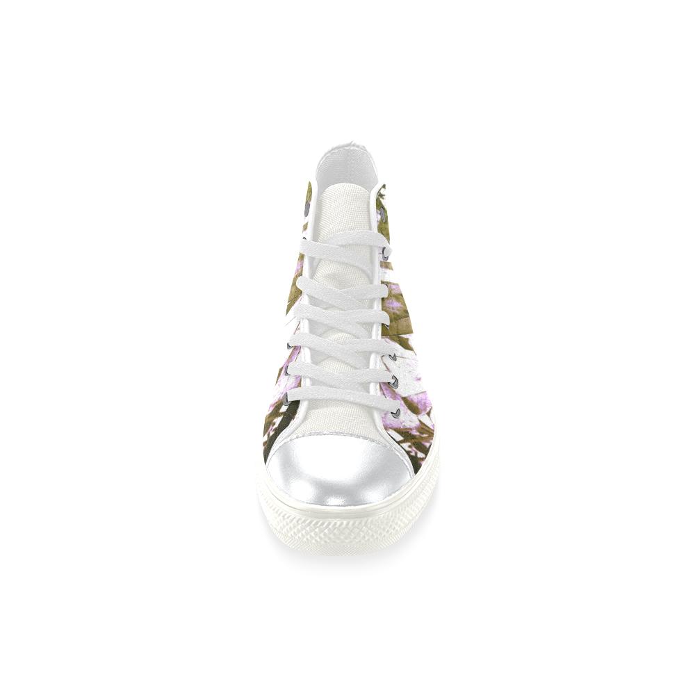 Foliage #4 - Jera Nour High Top Canvas Women's Shoes/Large Size (Model 017)