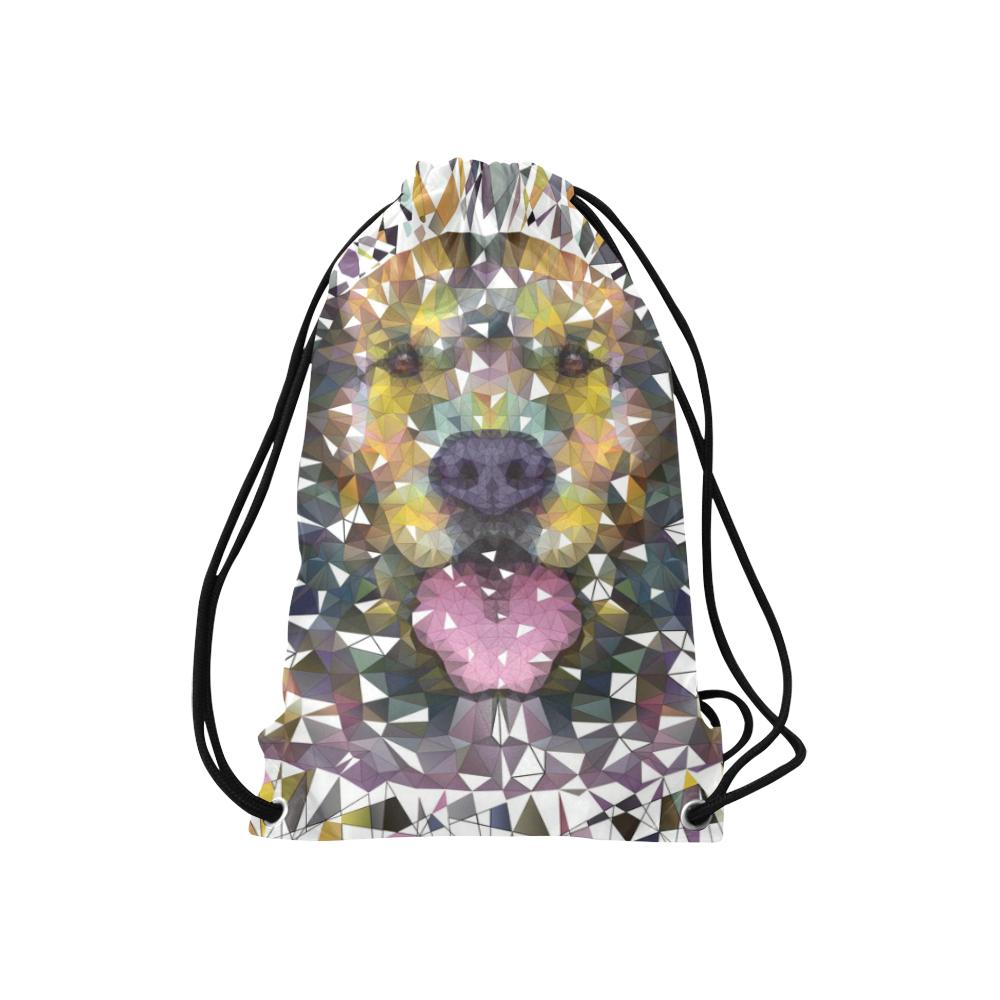 """rainbow dog Small Drawstring Bag Model 1604 (Twin Sides) 11""""(W) * 17.7""""(H)"""