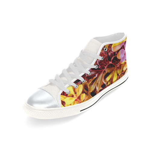 Foliage Patchwork #11 - Jera Nour High Top Canvas Women's Shoes/Large Size (Model 017)