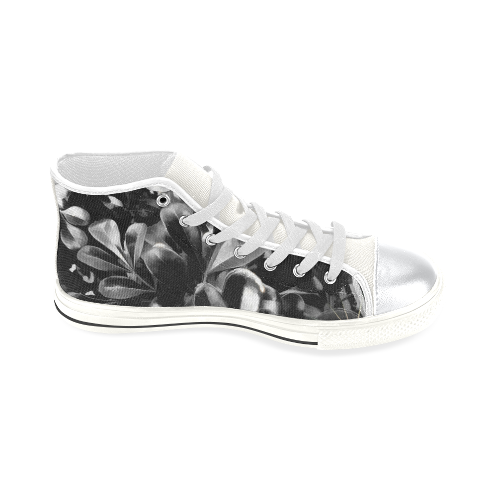 Foliage #1 - Jera Nour High Top Canvas Women's Shoes/Large Size (Model 017)