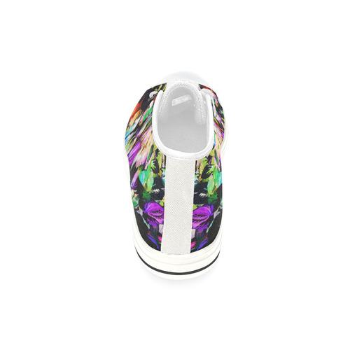 Foliage Patchwork #14 - Jera Nour High Top Canvas Women's Shoes/Large Size (Model 017)