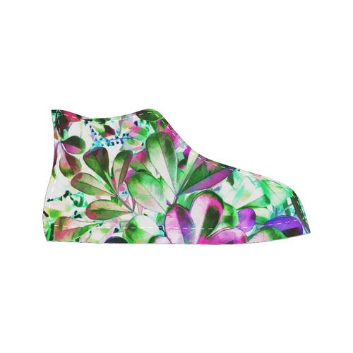 Foliage #3 - Jera Nour High Top Canvas Women's Shoes/Large Size (Model 017)