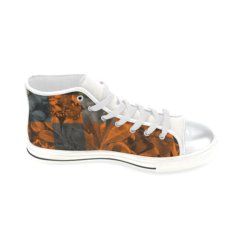 Foliage Patchwork #9 - Jera Nour High Top Canvas Women's Shoes/Large Size (Model 017)
