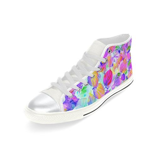 Foliage #7 - Jera Nour High Top Canvas Women's Shoes/Large Size (Model 017)