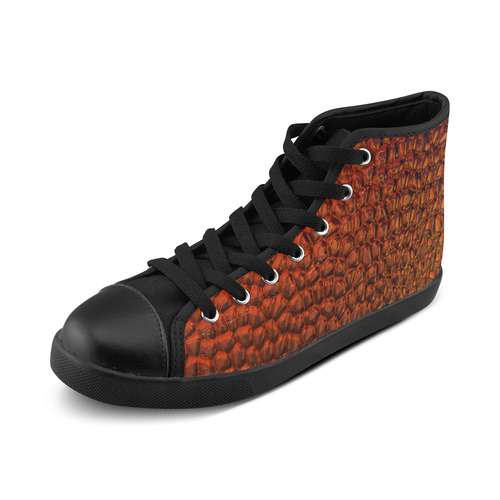 Solder Snake Skin - Jera Nour High Top Canvas Women's Shoes/Large Size (Model 002)