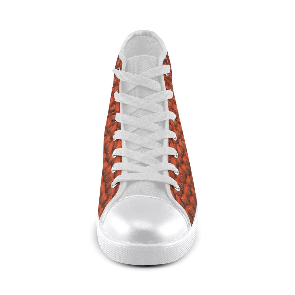 Solder Snake Skin - Jera Nour High Top Canvas Women's Shoes/Large Size (Model 002)