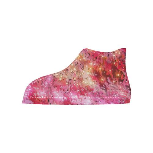 Sparkling Pink - Jera Nour High Top Canvas Women's Shoes/Large Size (Model 002)