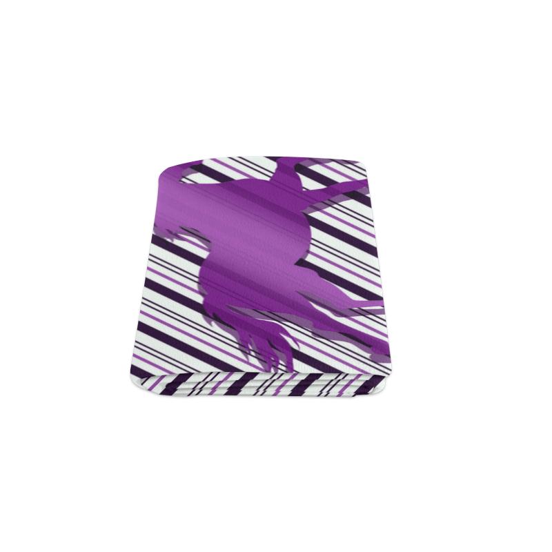 """Running Horse on Stripes Blanket 50""""x60"""""""