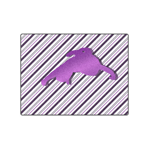 "Cat stretch out on Stripes Blanket 50""x60"""