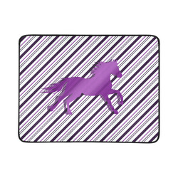 "Running Horse on Stripes Beach Mat 78""x 60"""