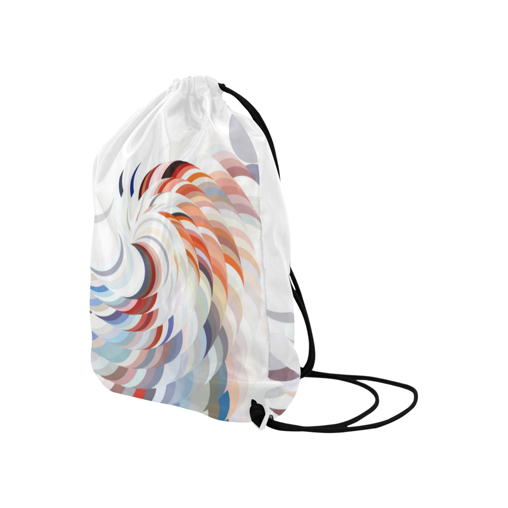"Spiralize by Artdream Large Drawstring Bag Model 1604 (Twin Sides)  16.5""(W) * 19.3""(H)"