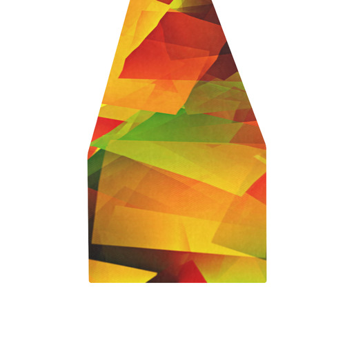 Indian Summer Cubes Table Runner 16x72 inch
