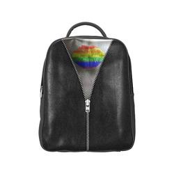 ZIPPER RAINBOW KISS LIPS Popular Backpack (Model 1622)